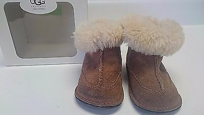 Infant Ugg Boots Fur Leather Boy Girl Size S Small