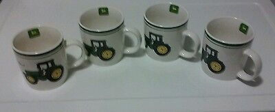 Set Of 4 Nothing Runs Like A John Deere Licensed Farm Tractor Coffee Cup/Mugs