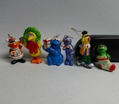 Muppets made in JAPAN Holiday Ornaments Big Bird Cookie Monster & Friends Lot
