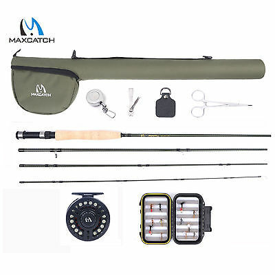 Maxcatch Fly Fishing Starter Kit Combo 9' 5WT Fly Rod, Fly Reel, Fly Line Outfit