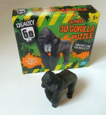 """""""Gorilla 3D Puzzle"""" Deadly 60 BBC Earth Educational Creative Toy New 26 pieces"""