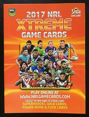 2017 Nrl Xtreme Game Trading Card Album With Full Parallel Set - 160 Cards