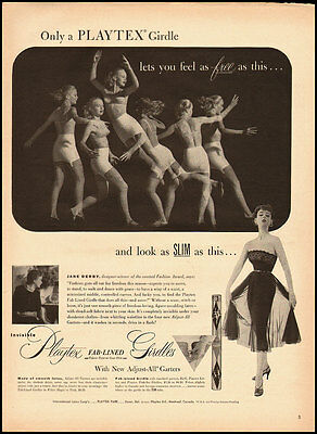 1952 Vintage ad for Playtex Fab-Lined Girdles  (072912)
