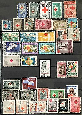 Red Cross Starter Collection Lot Of 38 Stamps