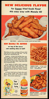 Mazola Oil Vintage Ad Woman's Day 1954 (102911)