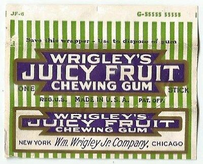 !!!RARE!!! Vtg 1930's American Chewing Gum Wrapper Wrigley's Juicy Fruit