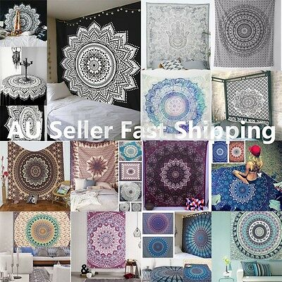 Indian Mandala Tapestry Wall Hanging Throw Dorm Bedspread Beach Yoga Mat Decor