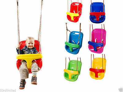 Back Supporting Baby Swing Seat With Adjustable Ropes for Kids Swing Fun Enjoy