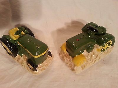 Vintage John Deere Ceramic Salt And Pepper Shakers