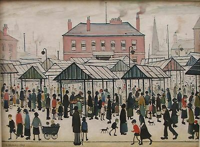 Lowry Market Scene Famous Art Poster A4 A3 A2 A1 Gift Present OC0090