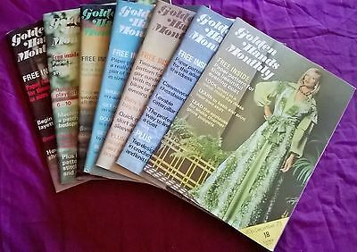 7 x Golden Hands Monthly Magazine Various Issues 1 PB 1973 Knitting Patterns