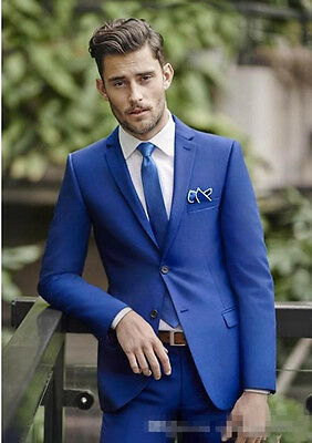 Blue Wedding Mens Suits Slim Fit Bridegroom Tuxedos For Men Groomsmen Suit Cheap