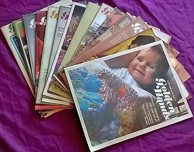 14 x issues Golden Hands Weekly Magazine PB 1972 Knitting Patterns Sewing