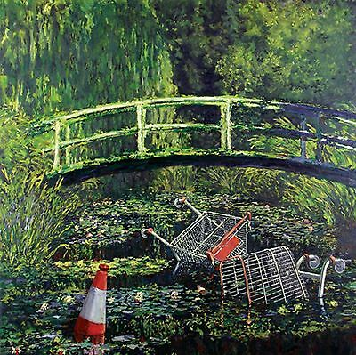 Banksy Show Me the Monet Art Poster A4 A3 A2 A1 Gift Present OC0147