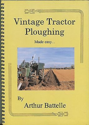 Vintage Tractor Ploughing Mady Easy by Arthur Battelle