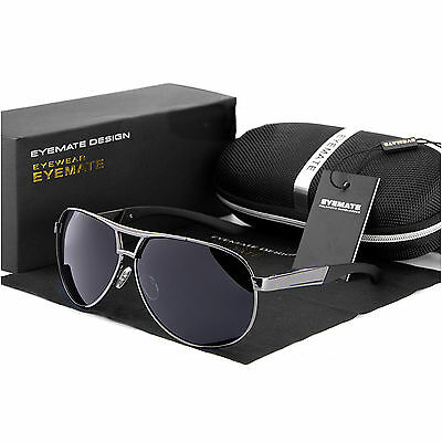 2017 Polarized Men's Retro Outdoor Aviator Sunglasses Glasses Eyewear + gift box