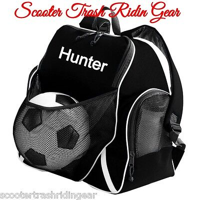 Personalized Backpack bag tote soccer equipment book monogram NEW black red blue