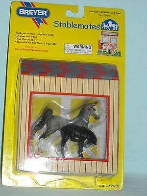 """Breyer Stablemates #59978 """"saddlebred Mare And Foal"""""""