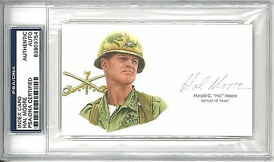 General Hal Moore Signed Cut Signature Psa/dna 83803754 Vietnam We Were Soldiers