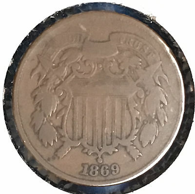 1869 2C Two Cent Piece [Auto Comb. Shipping](27939)