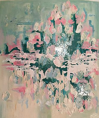 Mid Century  Modern Abstract Painting by  Dawn Eileen, mixed media