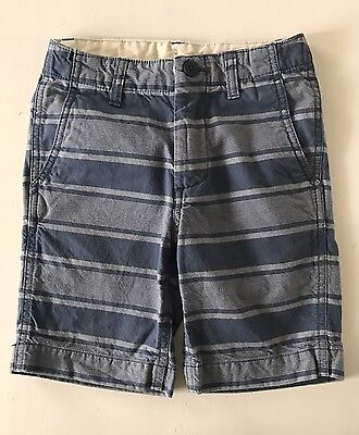 Boys Gap Kids SIZE 6 BLUE STRIPED SHORTS ADJUSTABLE WAIST