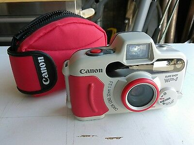 MINT 1 use Canon WP1 35mm Waterproof Sure Shot Film Camera NEVER WET NEW BATTERY