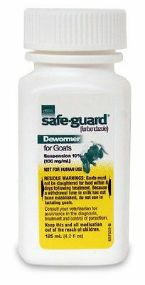 Durvet Safe-Guard Goat Dewormer, 125mL ---  Free Shipping / NEW Sealed