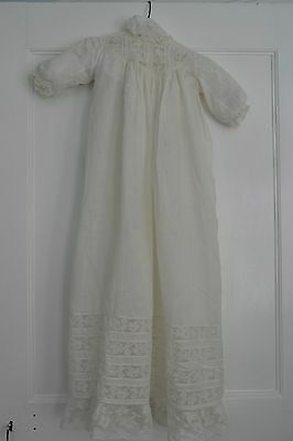 Antique White Christening Dress Gown