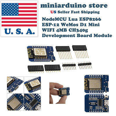 NodeMCU Lua ESP8266 ESP-12 WeMos D1 Mini WIFI 4MB Development Board Module USA
