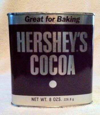 Vintage Hershey's Cocoa -Great For Baking- Empty 8 Oz. Tin- Used Collectible