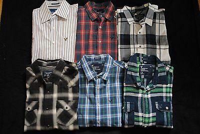 Lot Of 6 American Eagle Outfitters Men's Large (L) Button Down Shirts