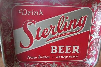A Vintage Sterling Advertising Tray from the 1950s