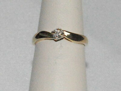 10k Gold ring with Diamond solitaire
