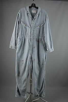 Vtg 50s Big Smith Sanforized Hickory Stripe Coveralls sz 46 Medium 1950s #2280