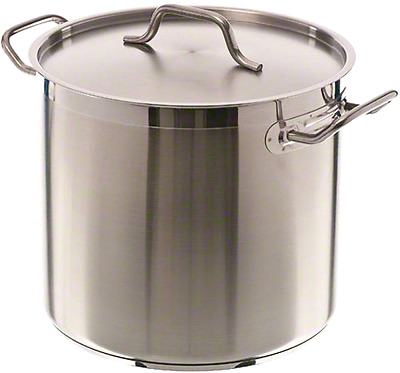 Update International STOCKPOT, 16 Qt Induction Ready Stainless Steel STOCK POT