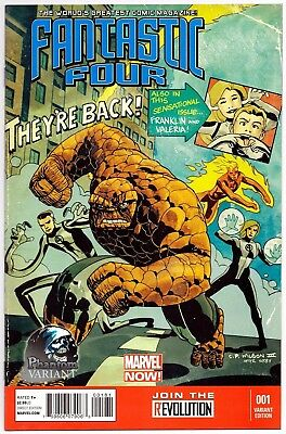 Fantastic Four #1 Exclusive Phantom Variant First Print Marvel Now Comics Nm