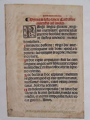 Rare 1525 Spanish Missal Page By Juan Cromberger Seville Printer And Mexico