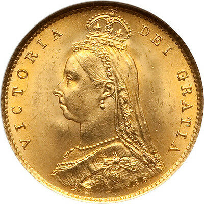 Great Britain 1887 Victoria Half Sovereign NGC MS-66
