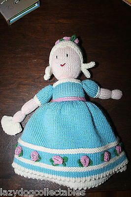 Homemade knitted Topsy Turvey Doll 35cm