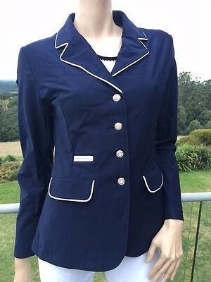 Ladies Soft Shell Riding Jacket Navy Competition Jacket Sizes 8-18 *Small sizing