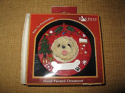White Cairn Terrier Dog Hand Painted Christmas Ornament puppy Personalize IT