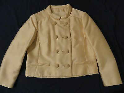 Vintage 1960s Pat Sandler Ivory Cream Shell Top & Elegant Jacket Small