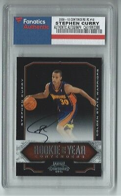 Stephen Curry signed 2009-10 Panini ROY Contenders autographed RC (Fanatics COA)