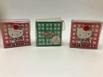 Vintage 1990 Sanrio Hello Kitty Mini Notepad Note Book Paper Lot 3