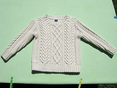 baby gap boys girls cable heavy knit sweater size 18-24 months euc