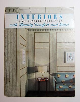ca. 1930 s CELOTEX ART DECO WALL COVERINGS Vintage Architectural COLOR BROCHURE