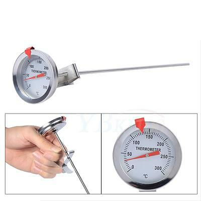 Silver Digital Food Thermometer BBQ Cooking Water Measure Probe Kitchen Tools