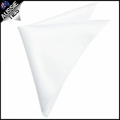 Mens White Pocket Square Handkerchief hanky
