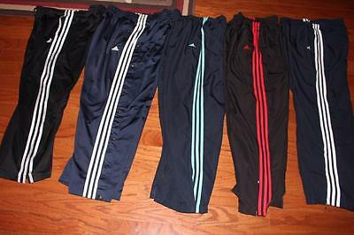 Lot Of 5 Pairs Adidas Womens Wind Pants Athletic Pants Tear Away Lined All Large